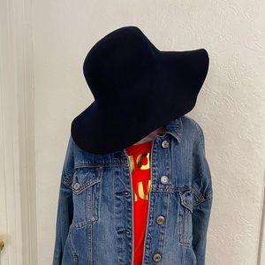 American Apparel Navy Blue Felt Floppy Hat